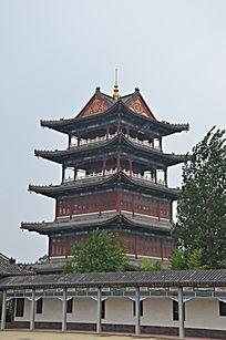 杨家埠民间艺术大观园里的高塔
