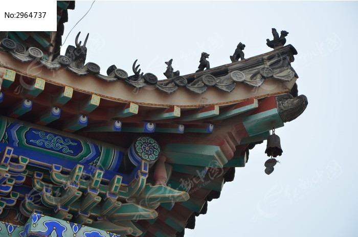 杨家埠民间艺术大观园里的古建筑屋檐