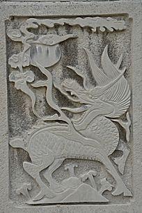 杨家埠民间艺术大观园石刻之麒麟