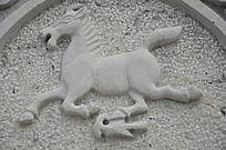 杨家埠民间艺术大观园石刻之马踏飞燕