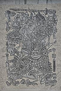 杨家埠民间艺术大观园石刻之门神敬德