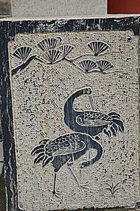 杨家埠民间艺术大观园石刻之松鹤