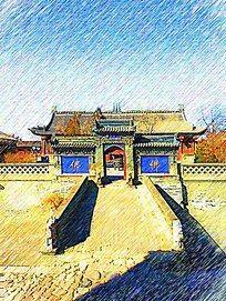 应县建筑风景