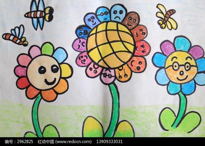 幼儿园孩子的画的太阳花图片