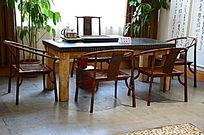 中式实木茶桌