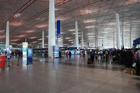 北京航站楼候机厅