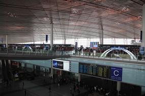 北京机场航站楼候机大厅