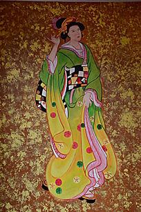 古代日本仁女图