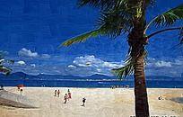 海边风景油画