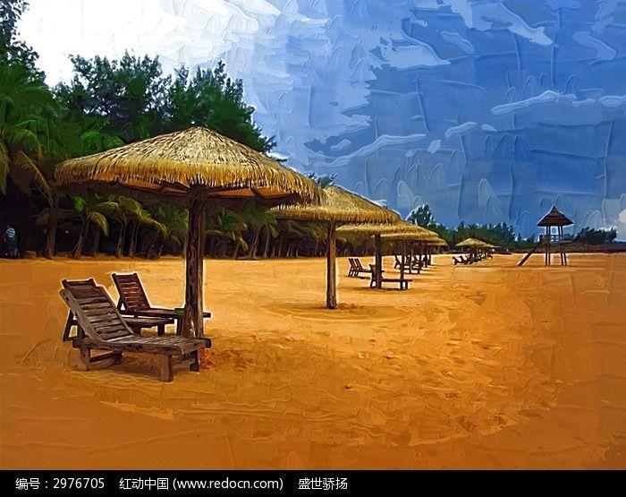 海边亭子图片,高清大图