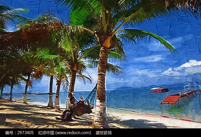 海景椰子树图片,高清大图