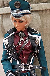 靠柱子的时尚SD骑兵玩偶