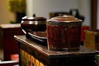 木制仿古储存罐