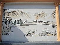 墙壁手工画