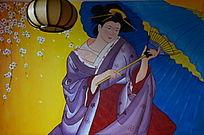 日本女人仕女图