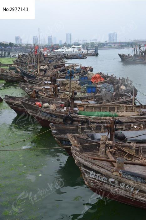 木船 渔船 海边 码头 日照