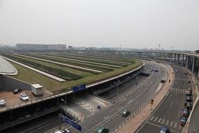 首都机场航站楼景观道路