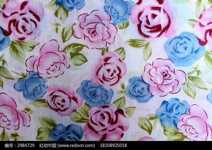 大花布料_不同颜色的花朵布料贴图