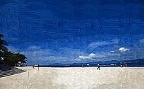 海边风景装饰画