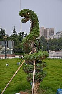 十二生肖造型的树木之蛇图片