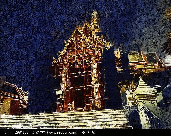 泰国旅游建筑画