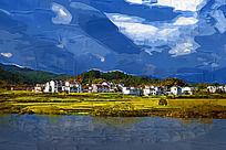 乡村风景油画