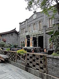 成都宽窄巷子仿古民国建筑风格西餐厅