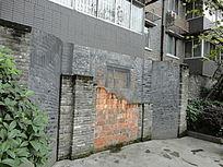 成都宽窄巷子居民区手绘艺术墙