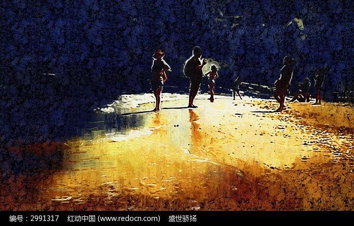 人物风景油画图片_艺术文化图片