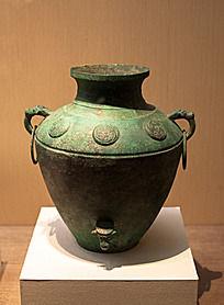 战国时期的酿酒工具圆涡纹罍