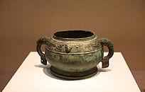 战国时期青铜饭碗凤鸟纹簋