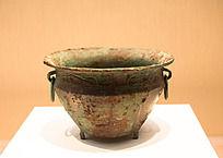 战国时期青铜龙纹矮足盆