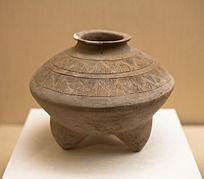 战国时期陶器三足罐
