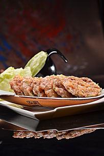 香煎鲜虾莲藕饼