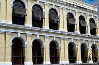 澳门大三巴街景 葡式建筑