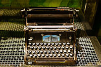 古董打字器铁艺模型