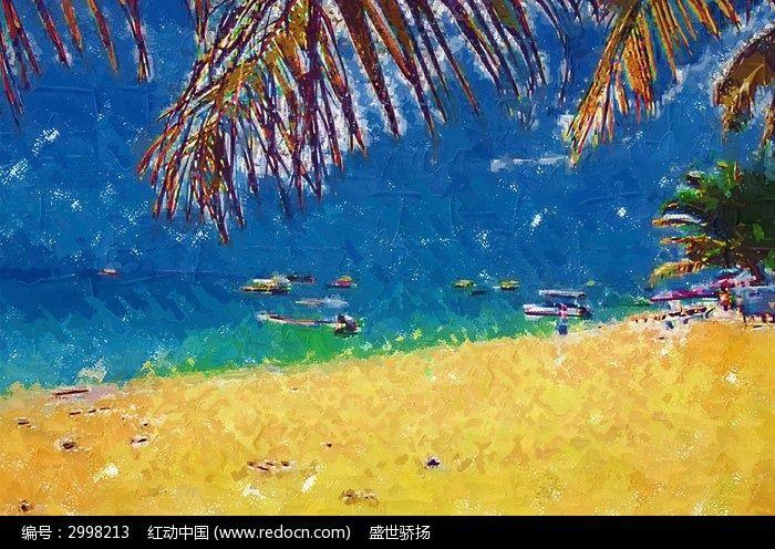 海边风景 大海装饰画  水彩印象 山水画 水彩山水 旅游风景 写意风景