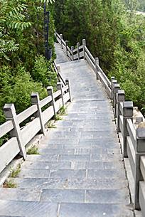 焦作缝山针公园长长的石梯