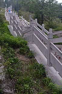 焦作缝山针公园的阶梯