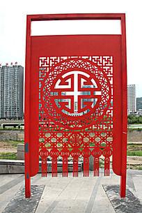 铁艺雕刻中式窗花图案艺术