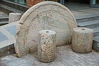 圆盘与圆墩石刻