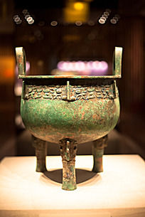 战国时期青铜器兽面纹圆鼎