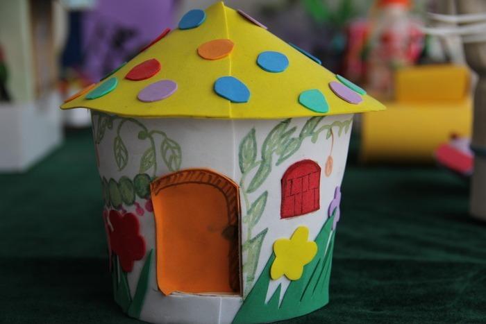 儿童手工制作的房子图片