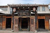 上古文化艺术馆的一处大门
