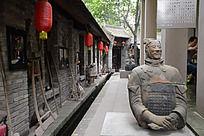 西安雁园的兵马俑和红灯笼