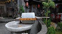 西安雁园的石磨