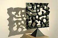 方形的抽象雕塑