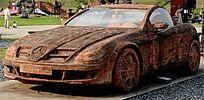 钢制汽车雕塑