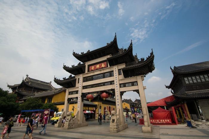 无锡南禅寺正门牌坊图片