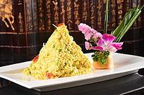 小米炒土鸡蛋